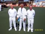 Mens trips winners Barrie Woodfine Danny King Gordon Fisher.JPG